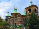 Karakol cerkiew budowana bez gwożdzi - po renowacji juz ma