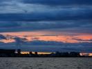 Zachód słońca nad Kapsztadem z łodzi