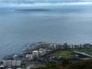 Kapsztad z góry sygnałowej - wyspa na której był więziony prawie 20 lat Mandela