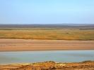 Pustynia Kyzyl-Kum do Chiwy tu płyneła kiedys Amudaria Granica z Turkmenistanem