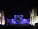 Samarkanda - plac registan okolo 1404 r - pokaz laserowy
