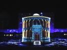 Samarkanda plac registan okolo 1404 r - pokaz laserowy