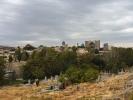 Widok z Shah i Zinda to jeden z najstarszych cmentarzy,pierwsze budowle z IX wieku Ostateczną formę nekropolia XIX wieku,