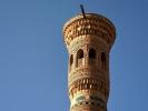 W drodze do Buchary miasto Vabkent 40 m minaret z konca XII w