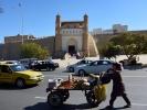 Buchara Cytadela Ark V w jest najstarszym zabytkiem Buchary. W 1920 zbombardowana przez bolszewików i doszczętnie zniszczona Ostat emirem był Alim Khan(1880-1944), uciekł do Afganistanu